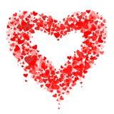 Composizione dei biglietti di S. Valentino dei cuori.  Fotografie Stock