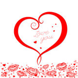Composizione dei biglietti di S. Valentino dei cuori.  Immagini Stock Libere da Diritti