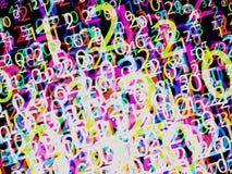 Composizione dei numeri, vettore Immagini Stock