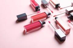 Composizione dei rossetti liquidi fotografia stock libera da diritti