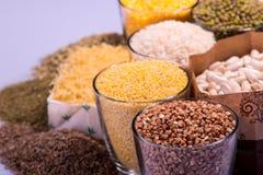 Composizione dei vetri con i cereali Immagine Stock Libera da Diritti