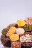 Composizione dei vetri con i cereali Immagini Stock Libere da Diritti