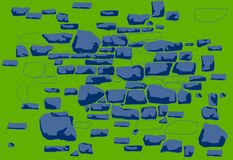 Composizione del fondo-un delle pietre disegnate a mano delle forme differenti royalty illustrazione gratis