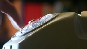Composizione del telefono vecchio video d archivio