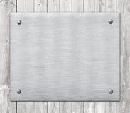Composizione della placca di alluminio del metallo, targhetta Fotografie Stock