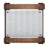 Composizione della placca di alluminio del metallo, targhetta Immagine Stock