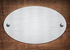 Composizione della placca di alluminio del metallo, targhetta Fotografia Stock Libera da Diritti