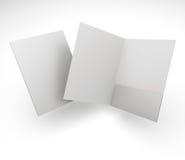 Composizione delle cartelle in bianco fotografie stock
