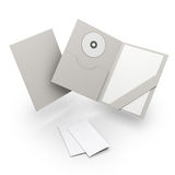 Composizione delle cartelle in bianco. welcomepack Immagine Stock