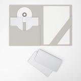 Composizione delle cartelle in bianco. welcomepack Immagini Stock