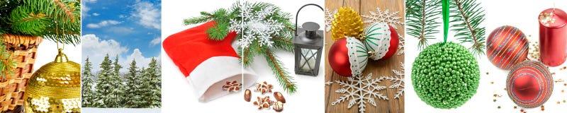 Composizione delle decorazioni di Natale Immagine Stock Libera da Diritti
