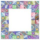 Composizione delle decorazioni portoghesi tipiche con le piastrelle di ceramica colorate chiamate - immagine di concetto del azul immagini stock