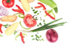 Composizione delle verdure affettate fresche Fotografia Stock Libera da Diritti