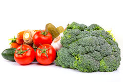 Composizione della verdura fresca Fotografie Stock