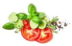 Composizione delle verdure, delle erbe e delle spezie Fotografia Stock Libera da Diritti