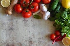 Composizione delle verdure su un bello fondo fotografie stock