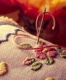 Composizione di crochet fotografia stock libera da diritti