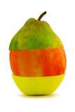 Composizione di frutta dalle mele e dalla pera Immagine Stock Libera da Diritti