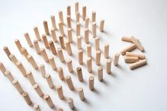 Composizione di legno nell'estratto di puzzle dei pezzi Fotografia Stock