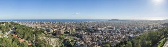 Composizione di panorama di Barcellona Immagine Stock Libera da Diritti