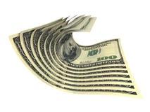 Composizione di parecchie banconote dei dollari Fotografia Stock