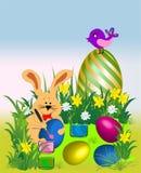 Pittore dell'uovo di Pasqua Fotografie Stock