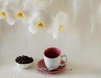 Composizione di una tazza di caffè Immagini Stock Libere da Diritti