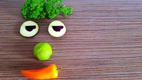 Composizione divertente vegetariana fotografia stock libera da diritti