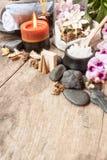 Composizione e sale marino nella stazione termale Fotografia Stock