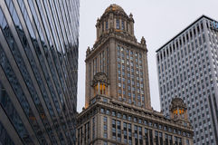 Composizione edificio del Chicago Fotografia Stock