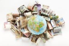 Composizione fatta con il globo dal lato dell'Africa Fotografia Stock Libera da Diritti