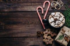 Composizione in festa del nuovo anno e di Natale fotografia stock libera da diritti
