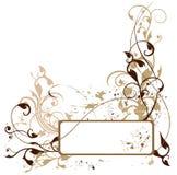 Composizione floreale in Grunge illustrazione di stock