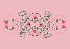 Composizione floreale nelle rose Fotografia Stock Libera da Diritti
