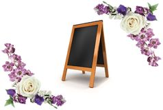 Composizione floreale Pagina fatta dei fiori fotografia stock libera da diritti