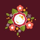 Composizione floreale variopinta decorativa Immagine Stock Libera da Diritti