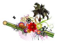 Composizione floreale in vettore Immagini Stock Libere da Diritti