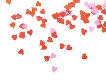 Composizione a forma di nei coriandoli del cuore Fotografia Stock Libera da Diritti