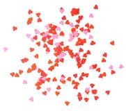 Composizione a forma di nei coriandoli del cuore Immagine Stock