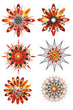 Composizione grafica dai punti di colore Fotografia Stock