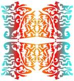 Composizione grafica in Seaimless su fondo bianco Fotografia Stock Libera da Diritti