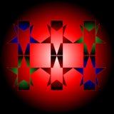 Elementi grafici su un fondo rosso con la messa in evidenza. Fotografie Stock