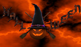 Composizione in Halloween Immagini Stock
