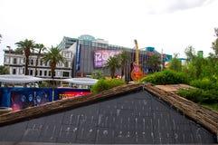 Composizione interessante della vista sulla striscia di Las Vegas Fotografia Stock Libera da Diritti