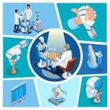 Composizione isometrica in intelligenza artificiale royalty illustrazione gratis