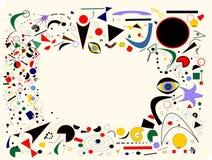 Composizione leggera astratta, forme variopinte geometriche operate su fondo beige Fotografie Stock Libere da Diritti