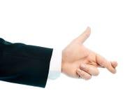 Composizione in mano maschio caucasica isolata Immagine Stock Libera da Diritti
