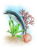Composizione marina illustrazione vettoriale