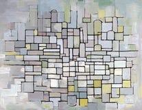 Composizione in Mondrian nel grey, nel colore rosa ed in azzurro royalty illustrazione gratis