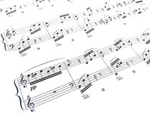 Composizione in musica Fotografia Stock